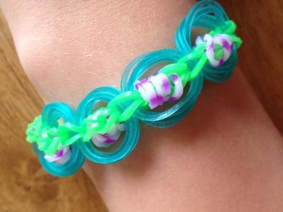 """Uitleg """"Saturn Link Chain Armband"""" van Rainbow Loom elastiekjes"""