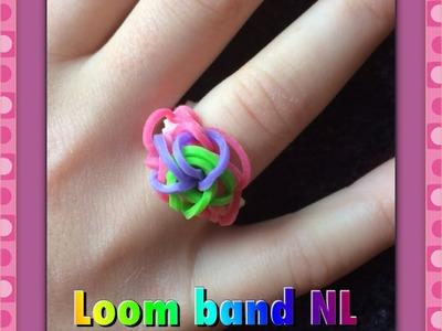 Rainbow Loom Nederlands ring maken van elastiekjes