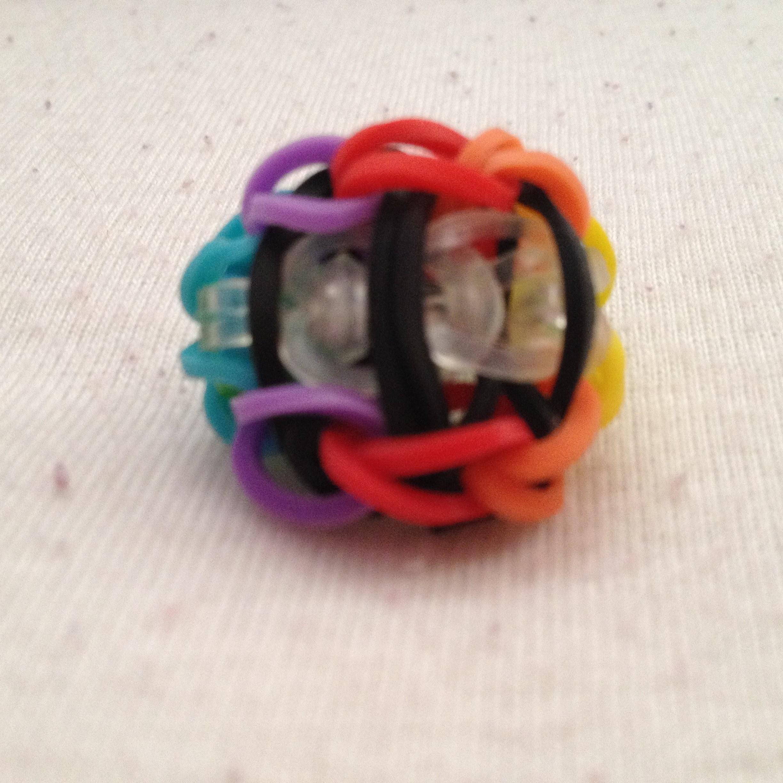 """Rustige Uitleg """"Ladder Ring"""" van Rainbow Loom elastiekjes, (Rainbow versie)"""
