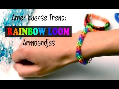 Rainbow Loom Nederlands - Beginners armband || Loom bands, rainbow loom, nederlands