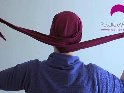 Hoe een sjaal knopen bij chemo? Comment nouer un turban chimio? Classic Style (Rosette la Vedette)