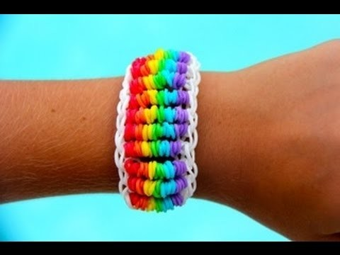 Rainbow Loom Nederlands - Candy Twist Six Bracelet - Loom bands