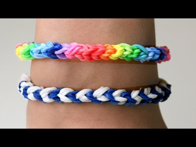 Rainbow Loom Nederlands - Double Capped Single - Loom Bands || tutorial, how to, dutch, loom bands