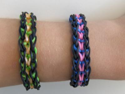 Rainbow Loom Nederlands, Pimmie Wimmie Armband. Pimmie Wimmie Bracelet (Original Design)