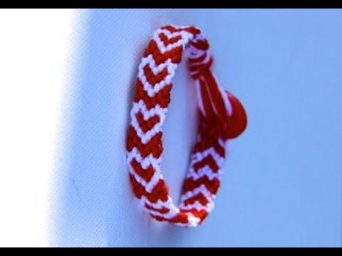 Friendship Bracelet Tutorial Heart. Vriendschapsarmbandje