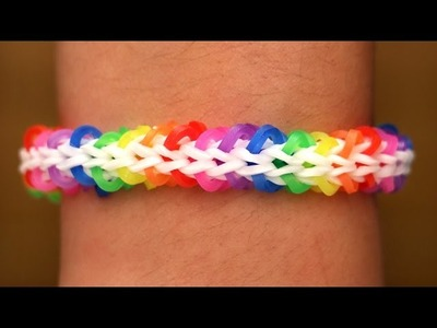 Rainbow Loom Nederlands - Fishbone Armband || Loom bands, rainbow loom, tutorial, how to