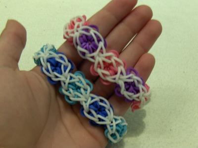 Rainbow Loom Nederlands, Flower Power Armband. Flower Power Bracelet