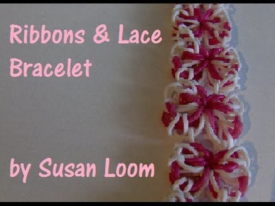 Rainbow Loom Nederlands | Ribbons & Lace Armband. Ribbons & Lace Bracelet