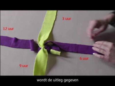 Tug touw. Fleece hondenspeeltjes zelf maken: scoubidou. Fleece tug toy for your pet