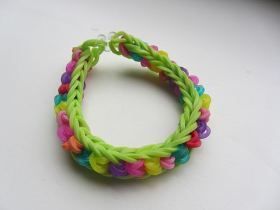 Vissengraat twisted - Rainbow Loom NL
