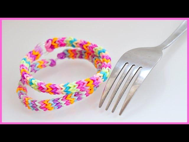 Loom met vork, Aztec armbandje, flat chevron