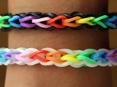 Rainbow Loom Nederlands - Double Cross Single || Loom bands, rainbow loom, tutorial, how to