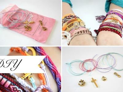 DIY anchor, infinity, peace & cross bracelet
