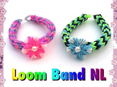 Rainbow Loom Nederlands bloem bedel. sneeuwvlok bedel van elastiekjes