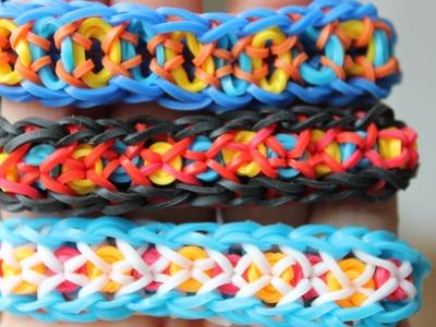 Rainbow Loom Nederlands, Confetti Criss-Cross, armband