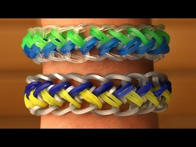 Rainbow Loom Nederlands - Mermaid Armband    Loom bands, rainbow loom, tutorial, how to