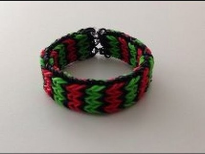 Rainbow Loom Nederlands, Triple Fishtail op Monstertail