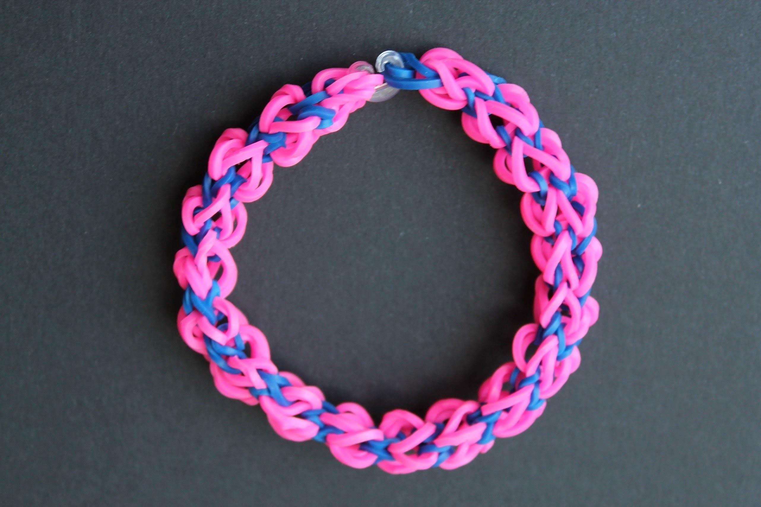 Rainbow loom, Twist square, armband, bracelet