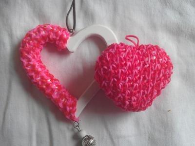 Rainbow loom Nederlands: Valentijnsdag, loom hart met piepschuim hartje. styropor (original design)