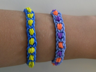 Rainbow Loom Nederlands, Dragon Back Armband. Dragon Back Bracelet (Original Design)