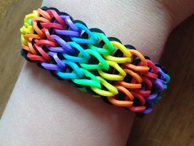 "Uitleg ""Triple Single Armand"" (Regenboogversie) van Rainbow Loom elastiekjes"