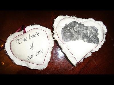 Afbeelding overbrengen op stof DIY hartje Valentijnsdag
