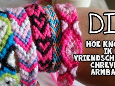 DIY Chevron Vriendschaps Armband Knoppen ♥ Leer De Basis ♥