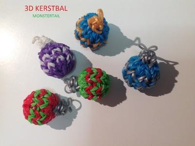 Rainbow Loom Nederlands, 3d kerstbal, Monstertail