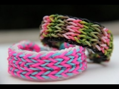 Rainbow Loom Nederlands - Inverted Triple Fishtail - Loom bands