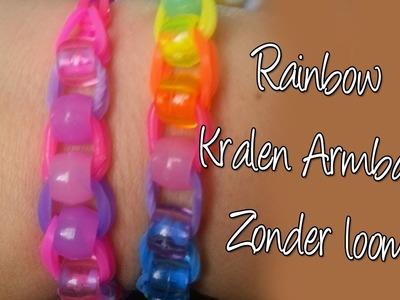 Diy regenboogloom armband zonder loom, met kralen! Nederlandse How to