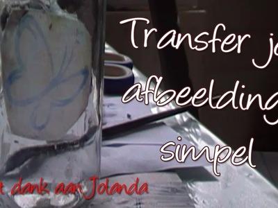 DIY Transpirante Transfer van afbeeldingen met Modpodge, door Jolanda