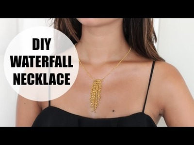DIY waterfall necklace
