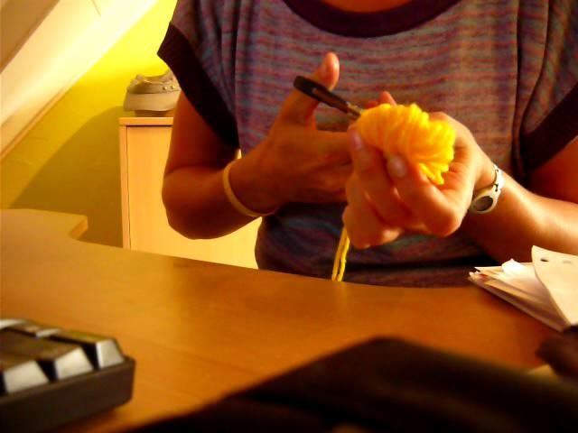 Pompoenen maken op je vingers