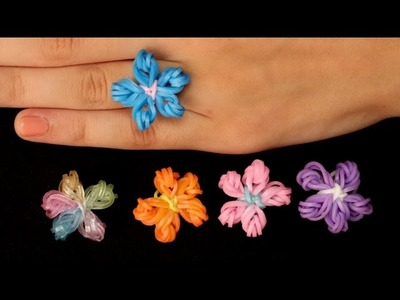 Rainbow Loom Nederlands - Flower Ring || Loom bands, rainbow loom, tutorial, how to