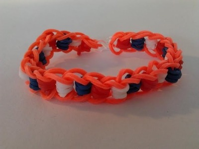 Rainbow loom Nederlands, dotted line, WK, armband