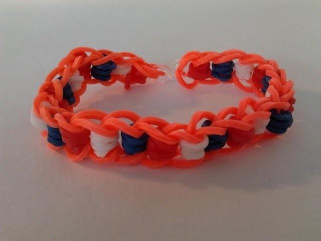 Rainbow loom Nederlands, dotted line, WK, armband