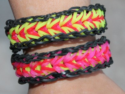 Rainbow loom, Nederlands, Feather bracelet, armband