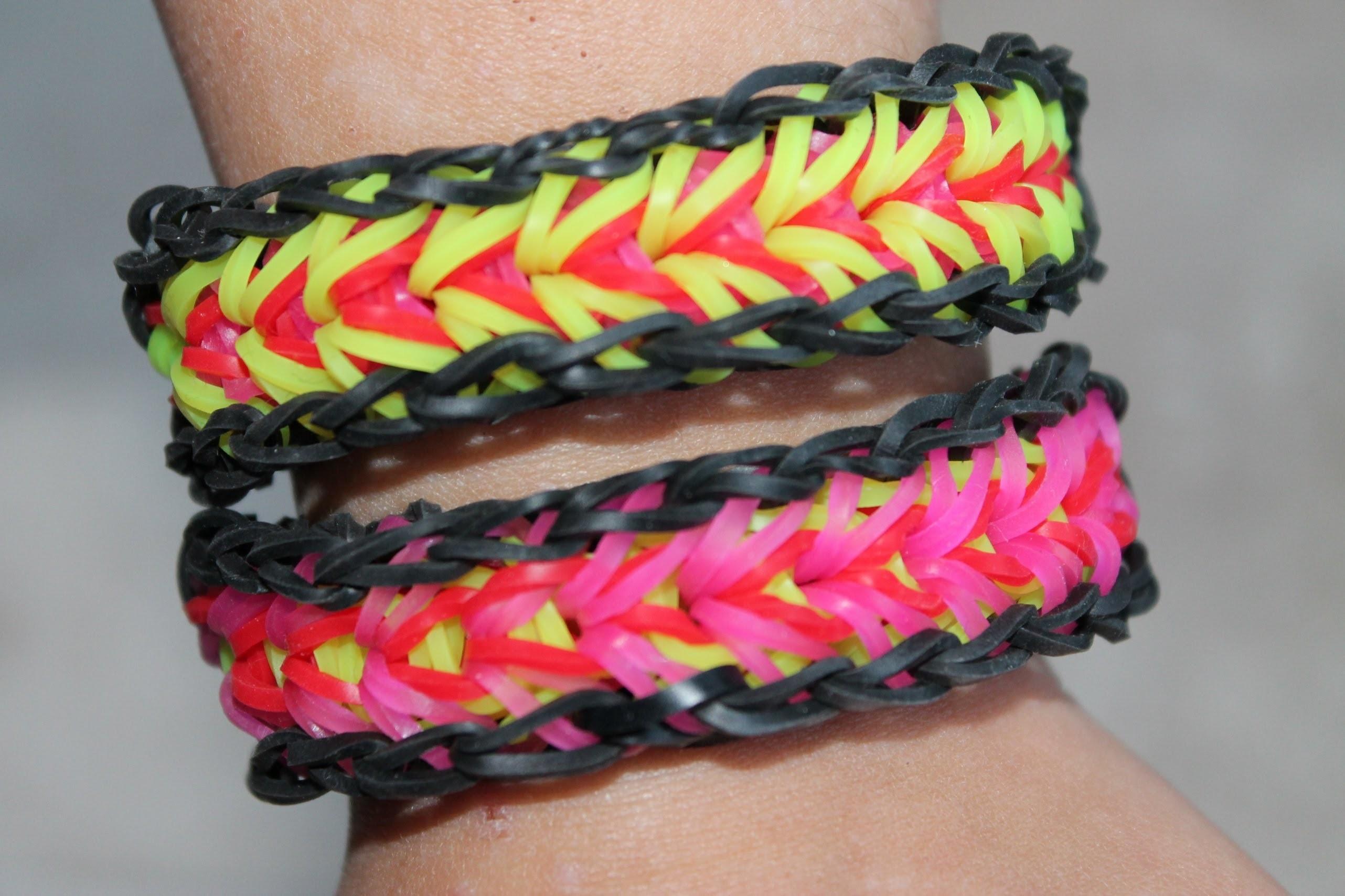 Rainbow loom, Nederlands, Feather bracelet, armband