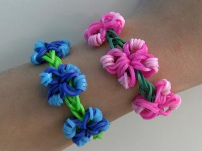 Rainbow Loom Nederlands | Flower Link Armband. Flower Link Bracelet (Original Design)