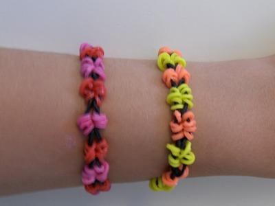 Rainbow Loom Nederlands, Mini Butterfly Armband. Mini Butterfly Bracelet (Original Design)