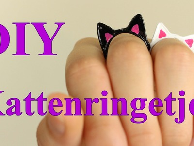 Kattenringetjes DIY. Tutorial | Cute!