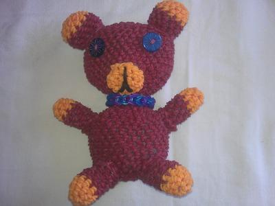 Rainbow loom nederlands: amigurumi. loomigurumi beertje, bear, deel 1. Design: Sandra Hoorn
