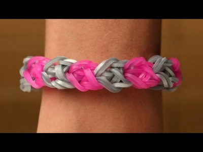 Rainbow Loom Nederlands - Double Diamond || Loom bands, rainbow loom, tutorial, how to