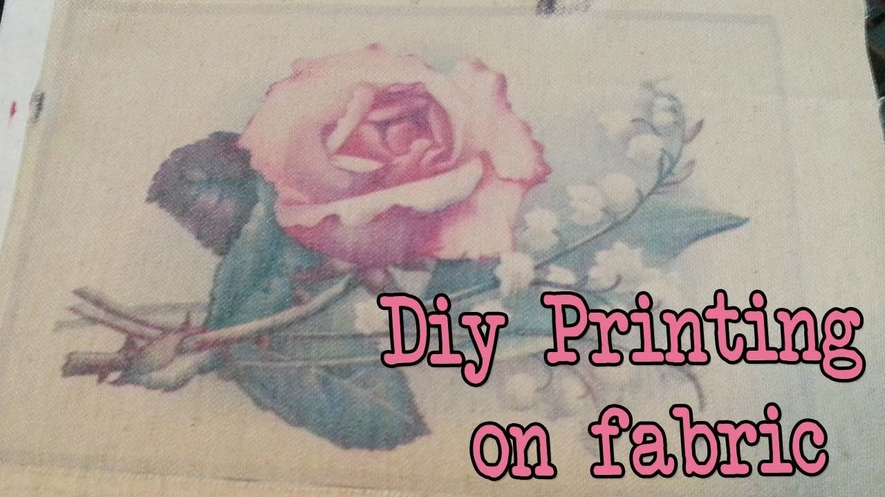 Diy How to print on fabric with an inkjet printer?