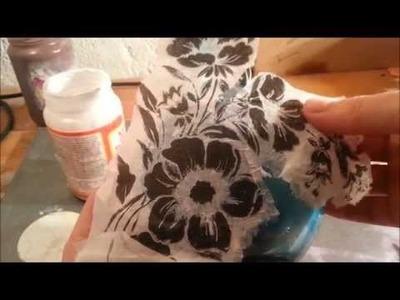Hoe plak je een servet op een bolle vorm?
