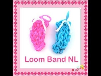 Rainbow Loom Nederlands slipper bedel van elastiekjes