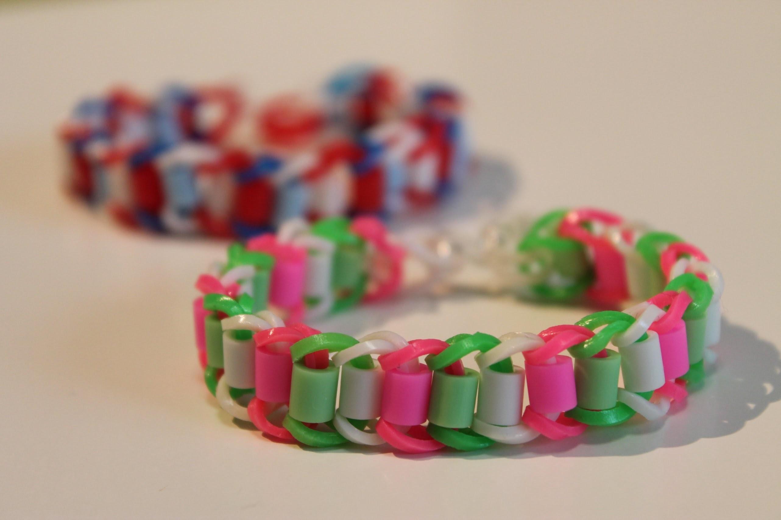 SES-creative loomprodukt, armbandje van strijkkralen en elastiekjes