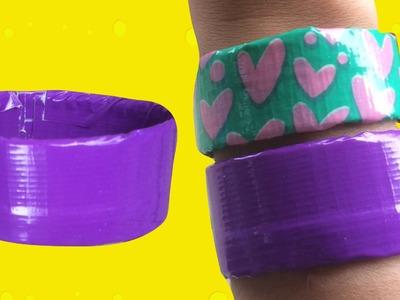 Paars duct tape armbandje knutselen met Duck tape