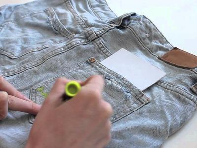 Fashion DIY: Aztec print met textielstiften!