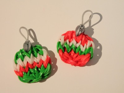 Rainbow Loom Nederlands, kerstbal, Xmas ornament, Original Design